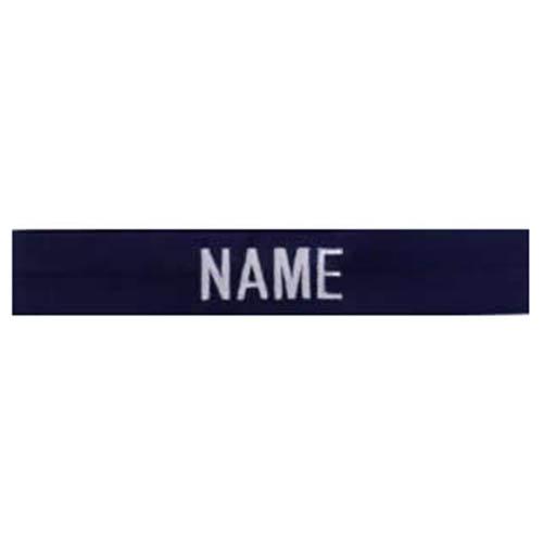 """Nášivka jmenovka 3x """"NAME"""" stríbrná niť MODRÁ"""