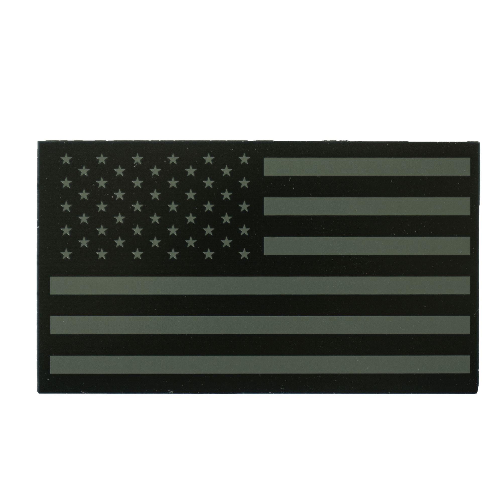 Nášivka IFF IR vlajka USA VELCRO ZELENÁ