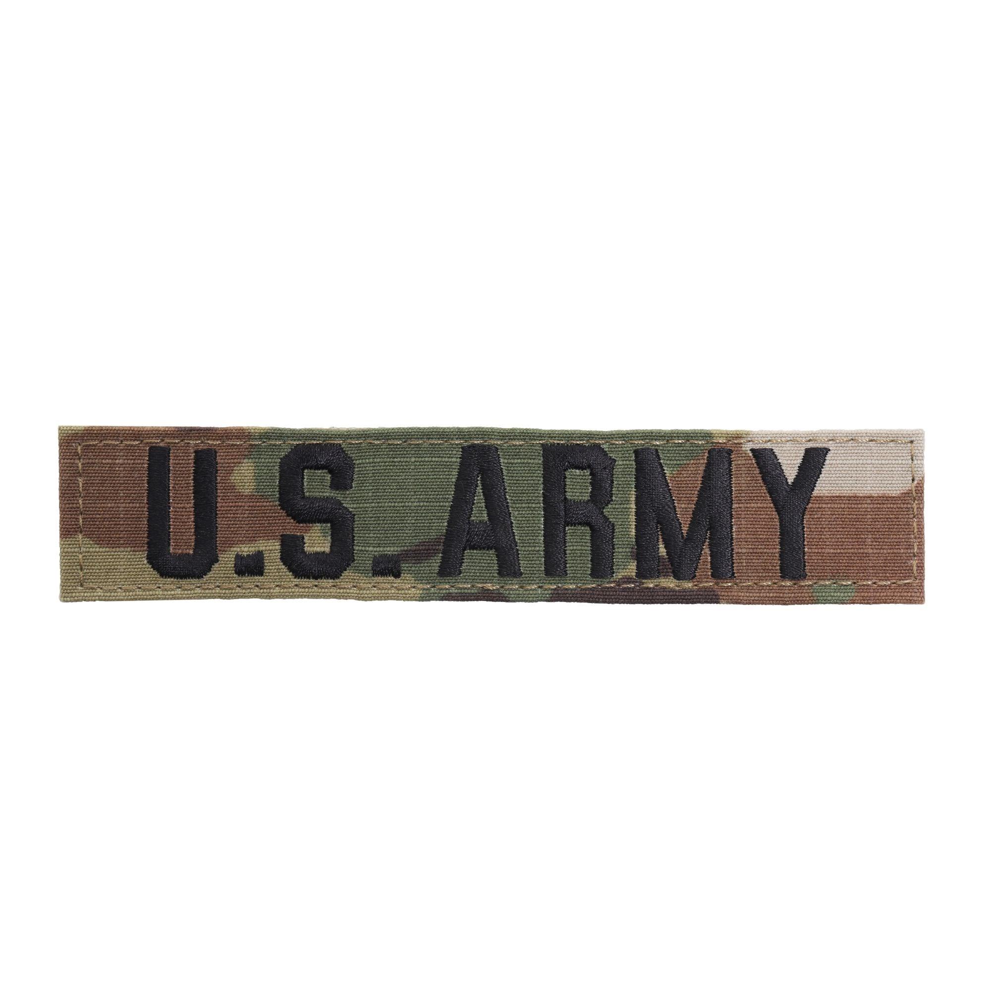 """Nášivka jmenovka """"U.S. ARMY""""  VELCRO MULTICAM®"""