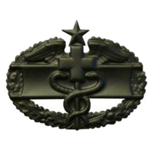 Odznak US COMBAT MEDICAL 2nd AWARD ČERNÝ