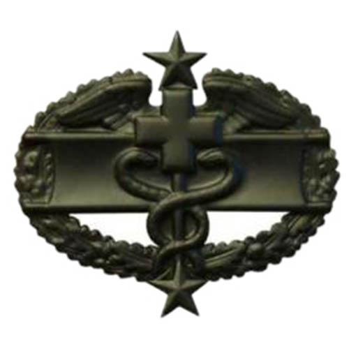 Odznak US COMBAT MEDICAL 3nd AWARD ČERNÝ