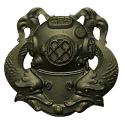 Odznak US DIVER 1st Class ČERNÝ