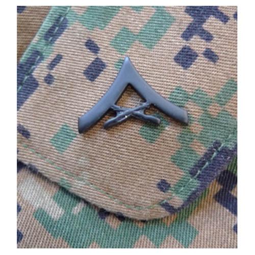Odznak hodnostní USMC - LCpl. - ČERNÝ