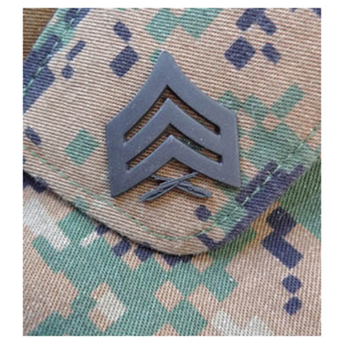 Odznak hodnostní USMC - Sgt. - ČERNÝ