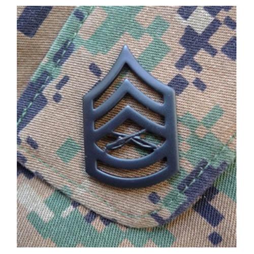 Odznak hodnostní USMC - GySgt. - ČERNÝ pár