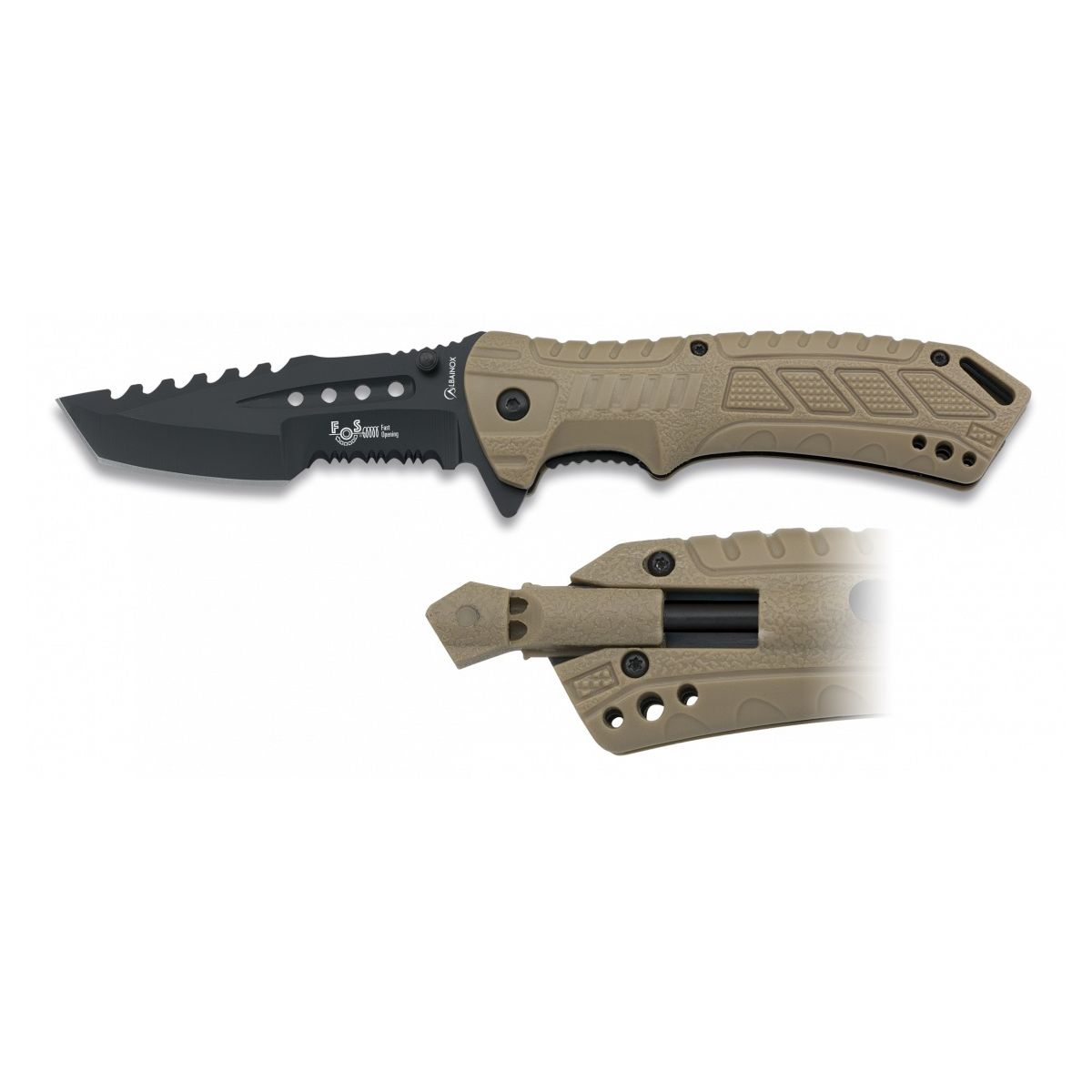 Nůž zavírací ALBAINOX FOS s křesadlem a píšťalkou
