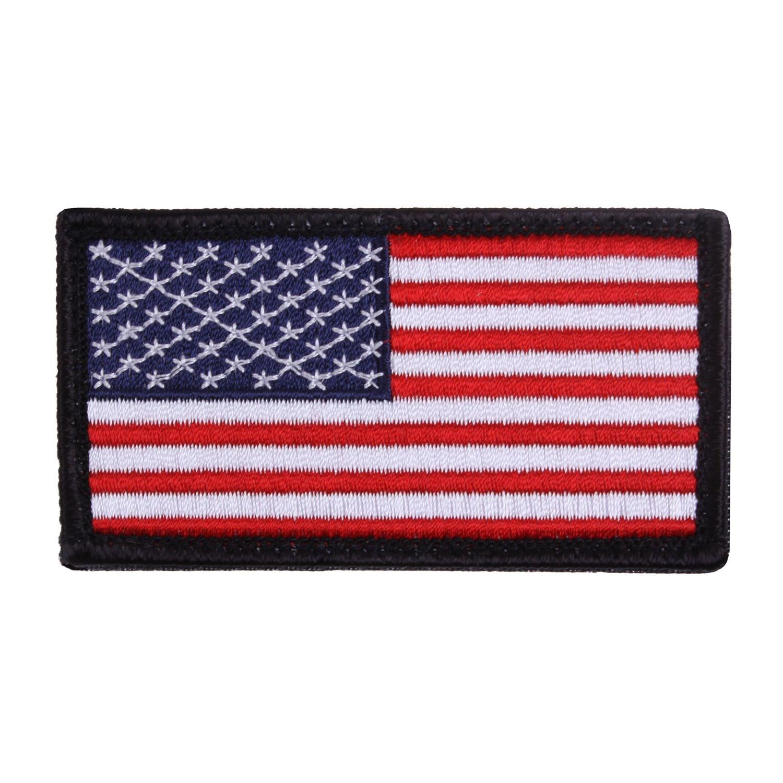 Nášivka US vlajka 4,5 x 8,5 cm ČERNÝ lem