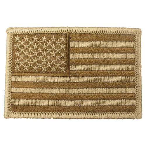 Nášivka US vlajka 5 x 7,5 cm DESERT