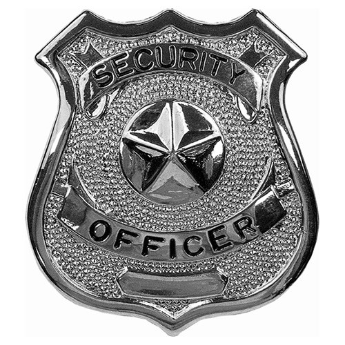 Odznak SECURITY OFFICER STŘÍBRNÝ