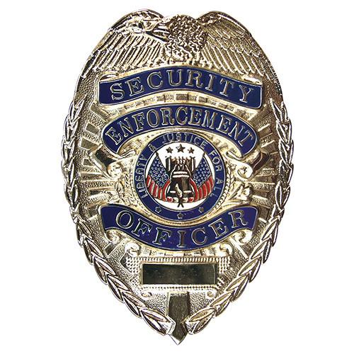 Odznak DELUXE SECURITY ENFORCEMENT OFFICER STŘÍBRNÝ