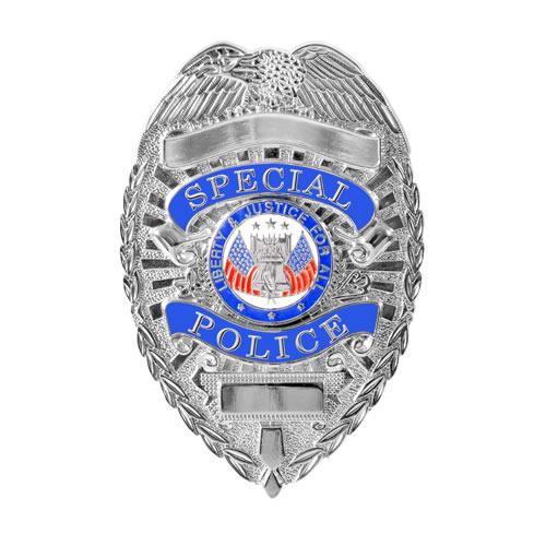 Odznak DELUXE SPECIAL POLICE STŘÍBRNÝ