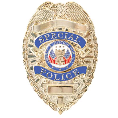 Odznak DELUXE SPECIAL POLICE ZLATÝ