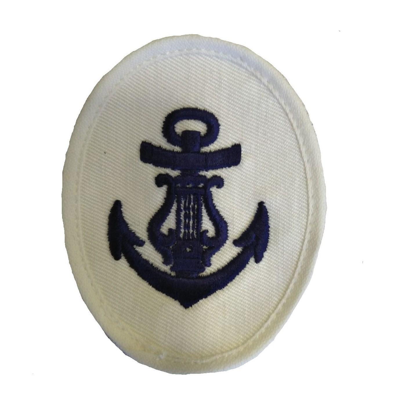 Nášivka námořních jednotek NVA ovál s kotvou a harfou