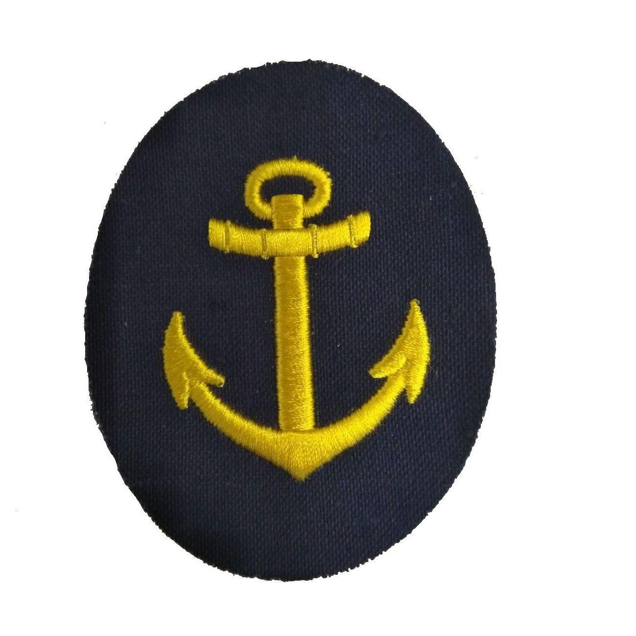 Nášivka námořních jednotek NVA ovál s kotvou