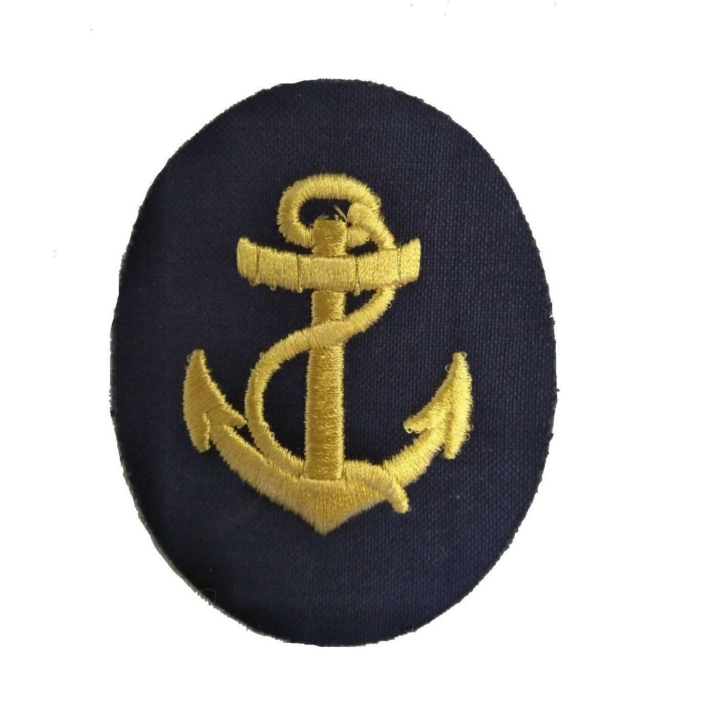 Nášivka námořních jednotek NVA ovál s kotvou a lanem