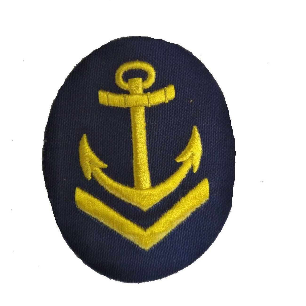 Nášivka námořních jednotek NVA ovál s kotvou + V