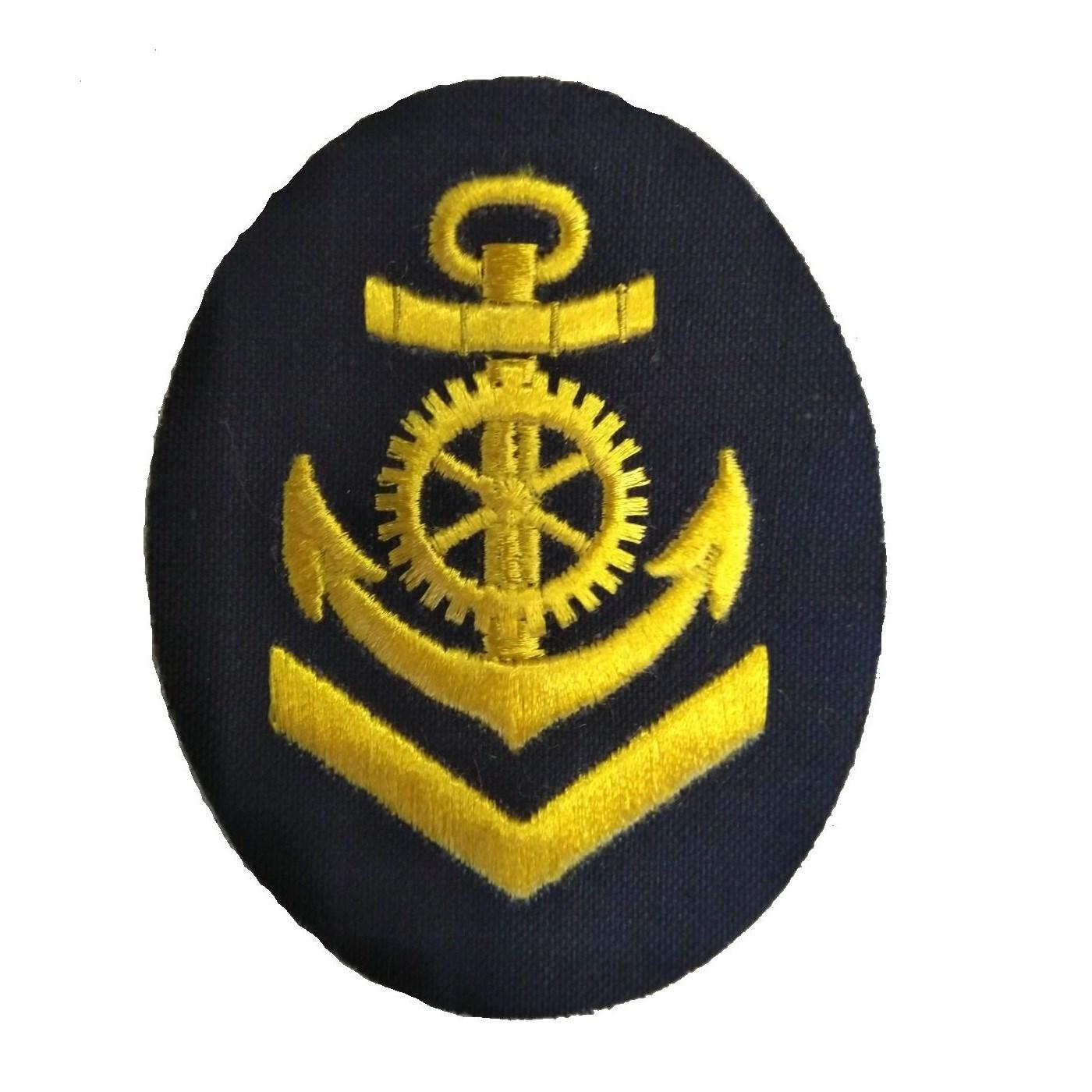 Nášivka námořních jednotek NVA ovál s kotvou a kormidlem + V