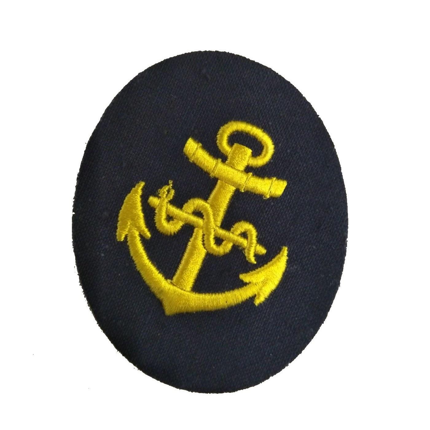 Nášivka námořních jednotek NVA ovál s kotvou a hadem