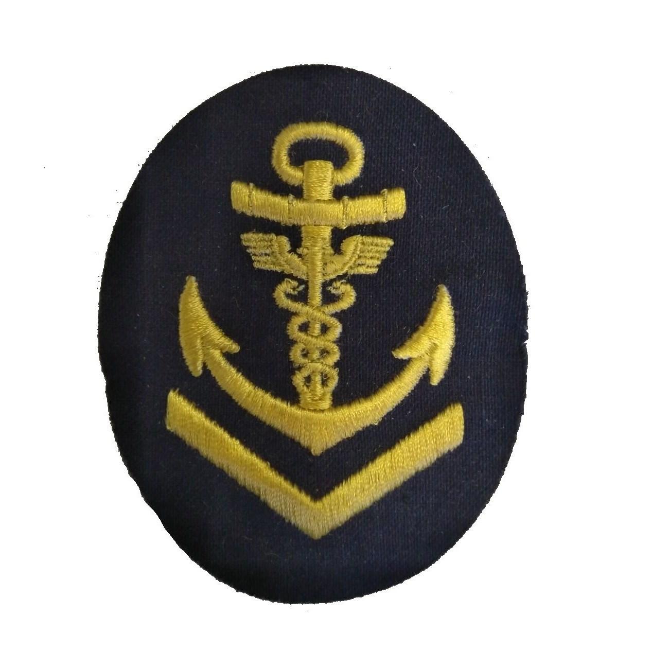 Nášivka námořních jednotek NVA ovál s kotvou, dva hadi + V