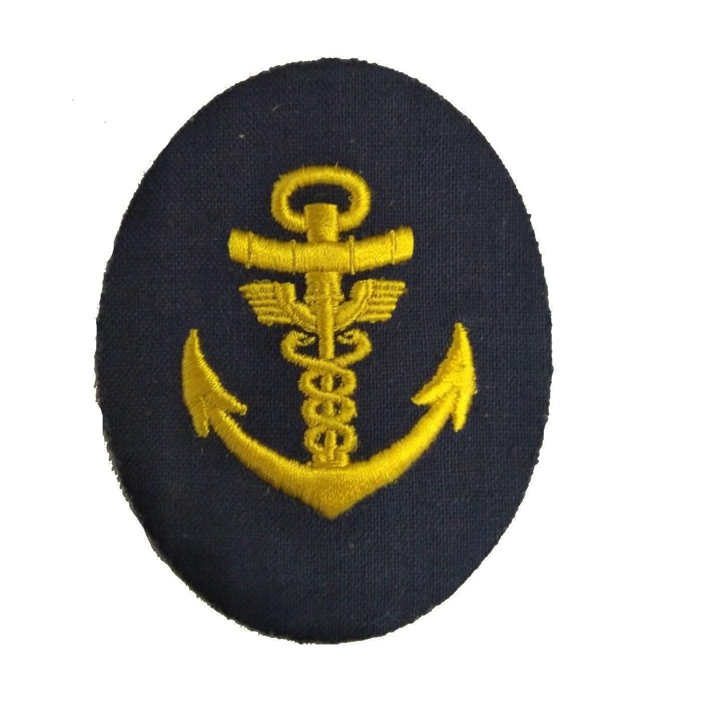 Nášivka námořních jednotek NVA ovál s kotvou, dva hadi