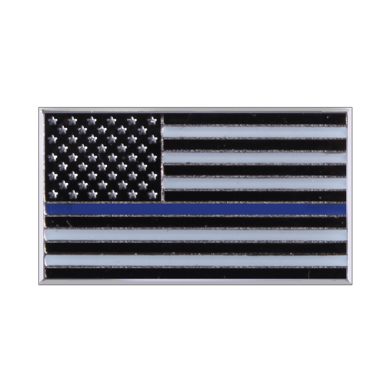 Odznak vlajka USA s modrou linkou