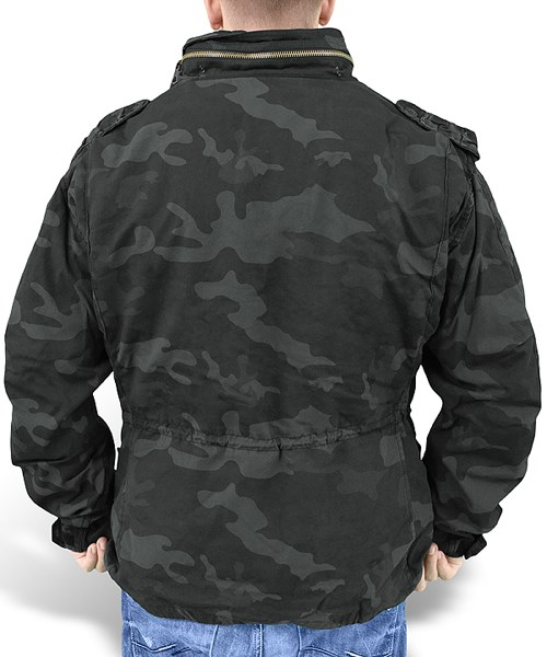 Bunda US M65 REGIMENT s vložkou BLACK CAMO SURPLUS 20-2501-42 L-11