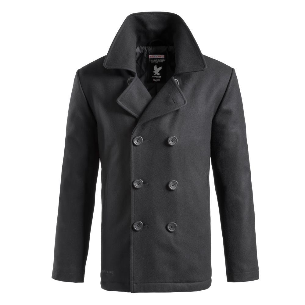 Kabát PEA COAT ČERNÝ SURPLUS 20-4030-03 L-11