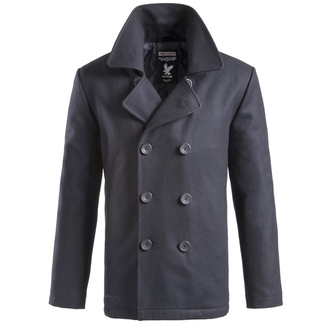 Kabát PEA COAT NAVY MODRÝ SURPLUS 20-4030-10 L-11