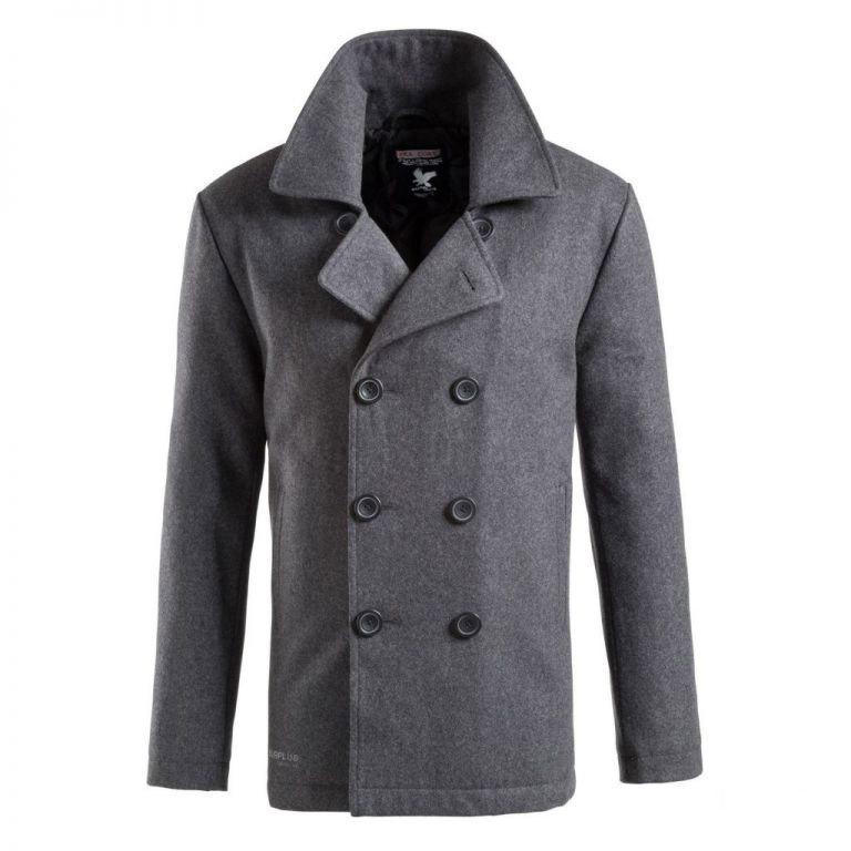 Kabát PEA COAT ANTHRAZIT SURPLUS 20-4030-17 L-11