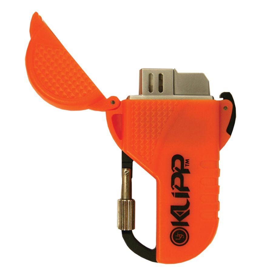 Zapalovač plynový KLIPP™ s ochranou proti větru ORANŽOVÝ