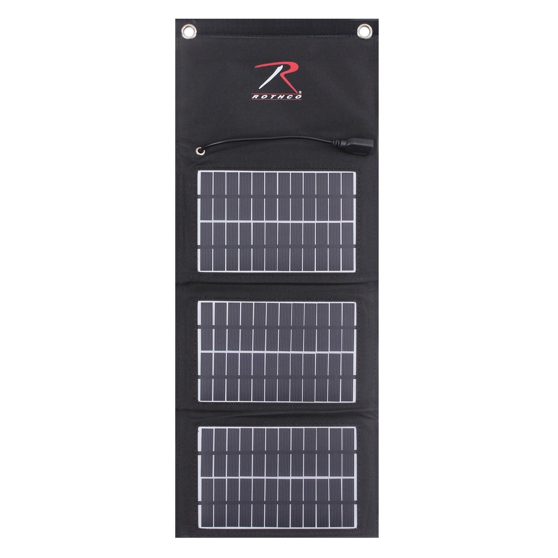 ROTHCO Nabíječka solární USB skládací MOLLE ČERNÁ