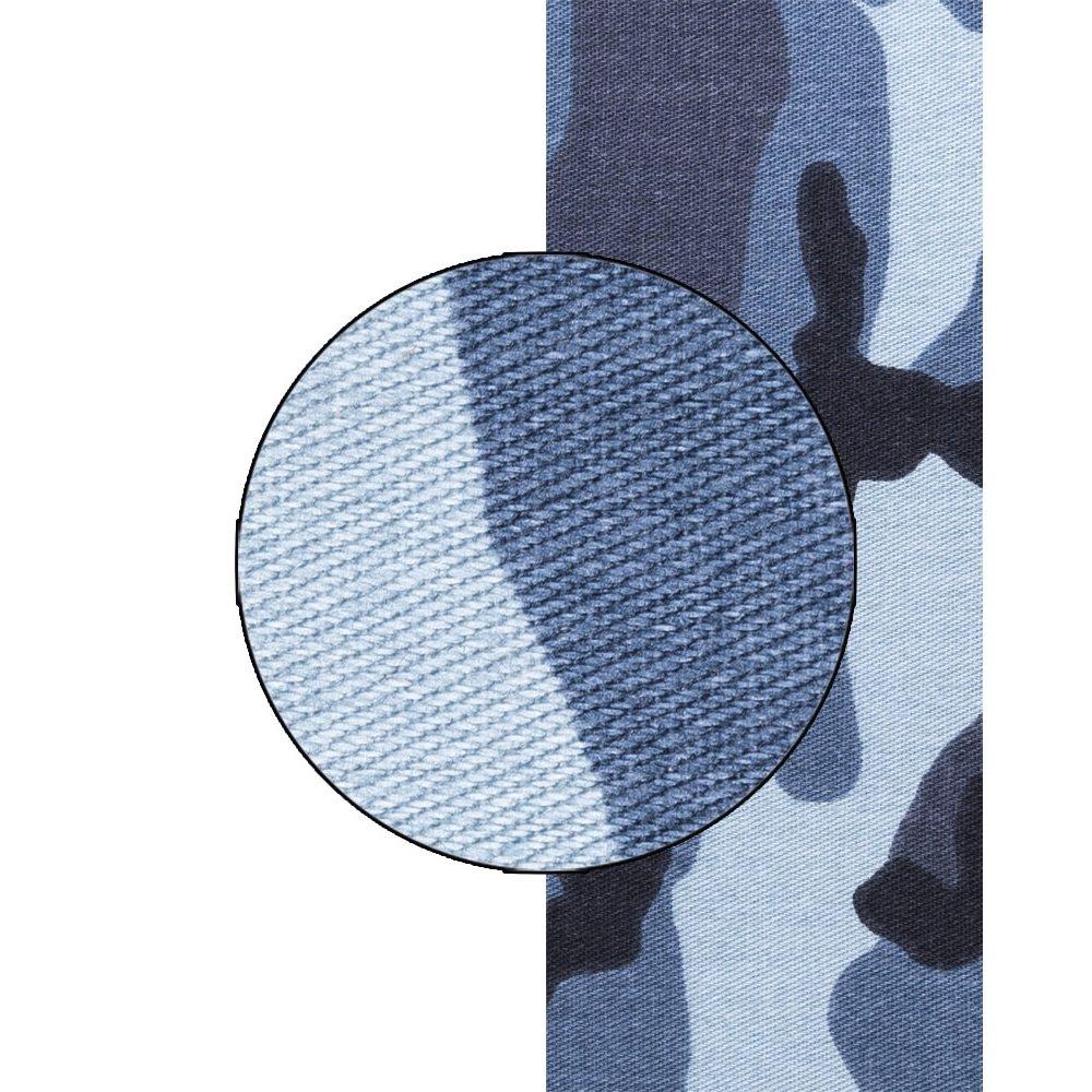 Látka kepr URBAN CAMO BLUE šíře 160cm  21315000 L-11