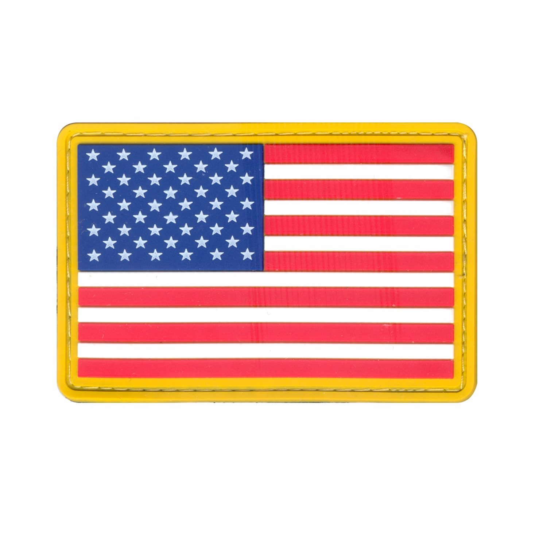 ROTHCO   Nášivka US vlajka velcro BAREVNÁ žlutý lem