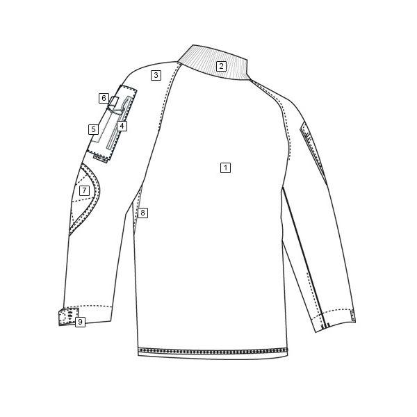 Košile taktická COMBAT 1/4 zip rip-stop ALL TERRAIN TIGER TRU-SPEC 2536000 L-11