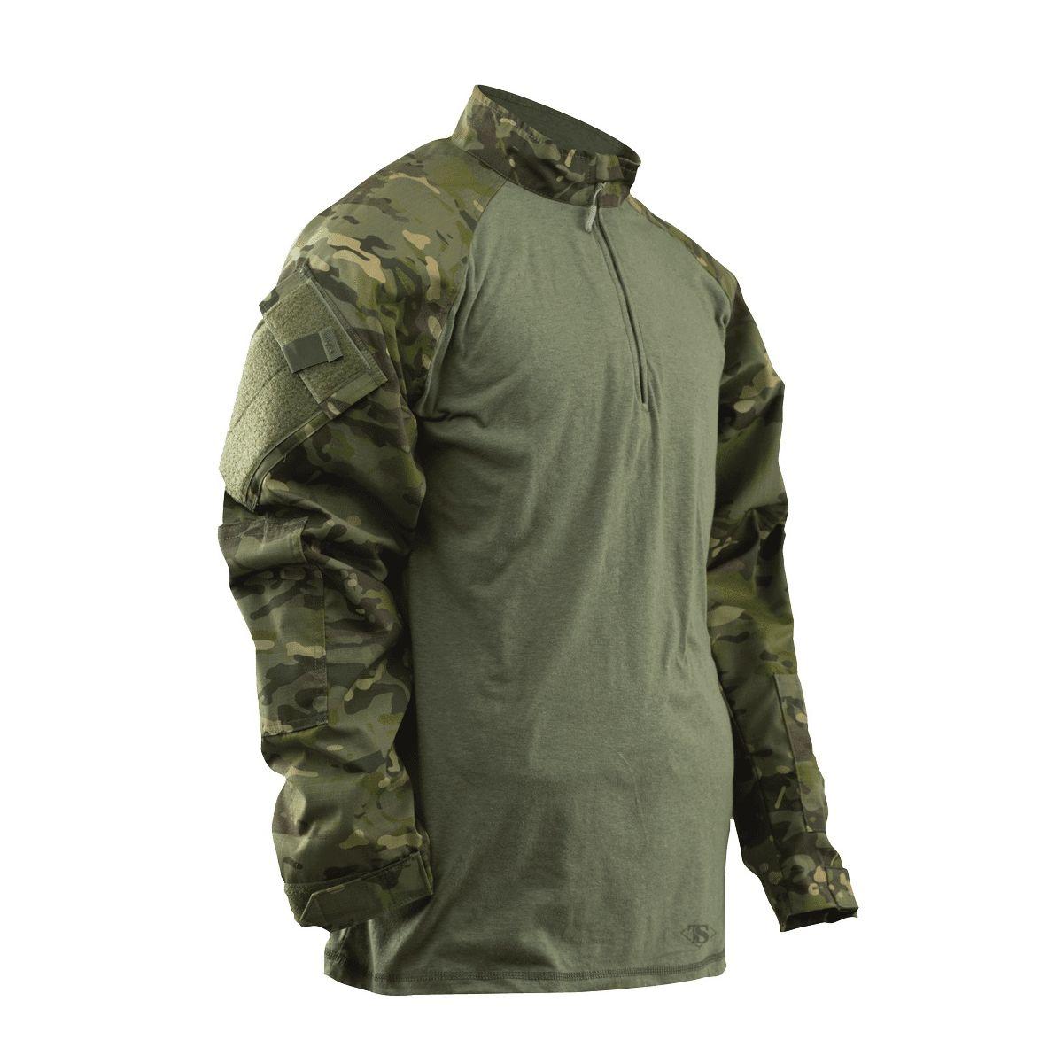 Košile taktická COMBAT TRU 1/4 ZIP MULTICAM TROPIC® TRU-SPEC 25370 L-11