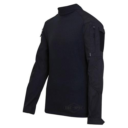 Košile taktická COMBAT rip-stop ČERNÁ TRU-SPEC 25520 L-11