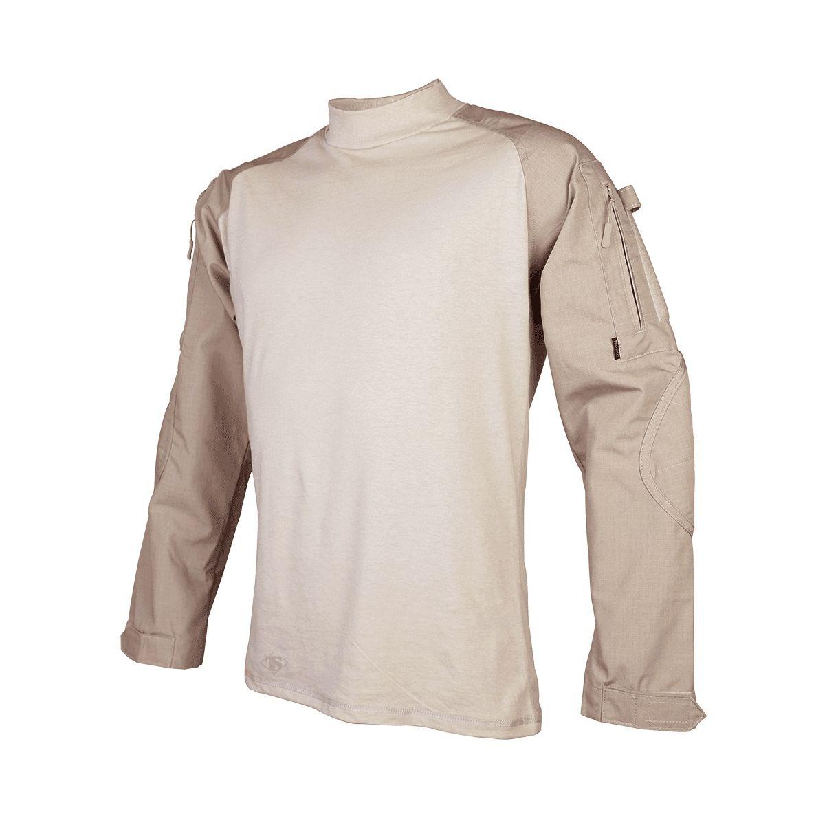 Košile taktická COMBAT rip-stop KHAKI TRU-SPEC 25540 L-11