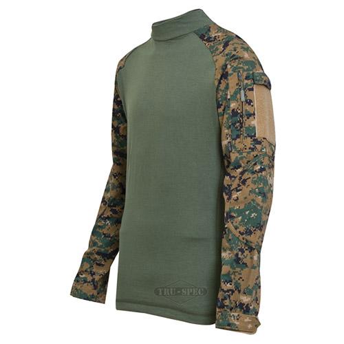 Košile taktická COMBAT rip-stop DIGITAL WOODLAND TRU-SPEC 25590 L-11