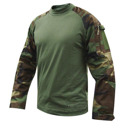 Košile taktická COMBAT Cordura rip-stop WOODLAND TRU-SPEC 25600 L-11
