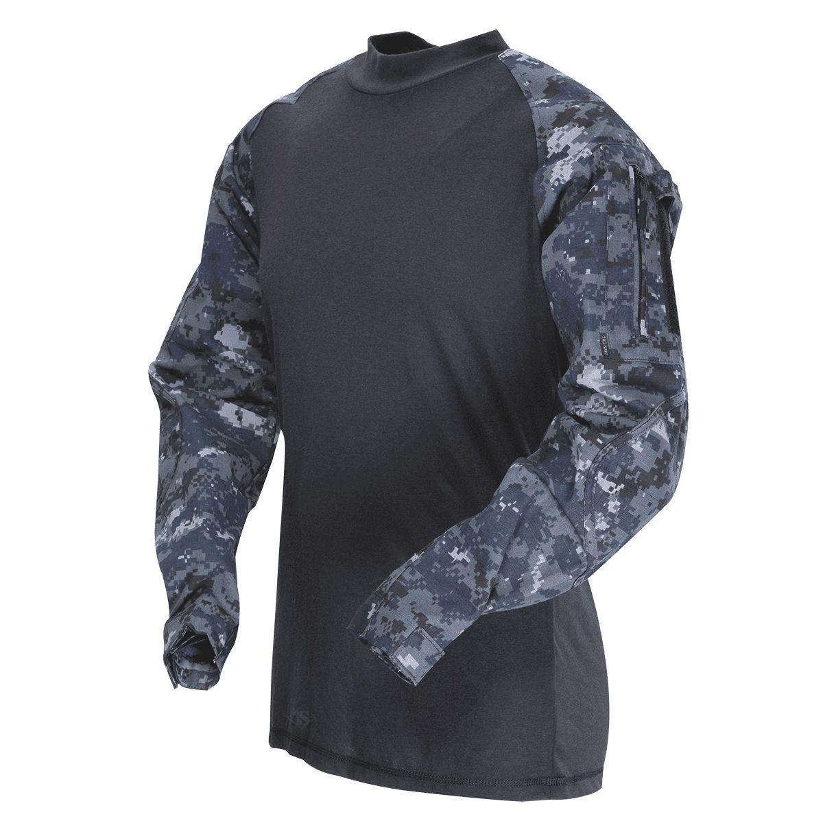 Košile taktická COMBAT rip-stop MIDNIGHT DIGITAL TRU-SPEC 25630 L-11
