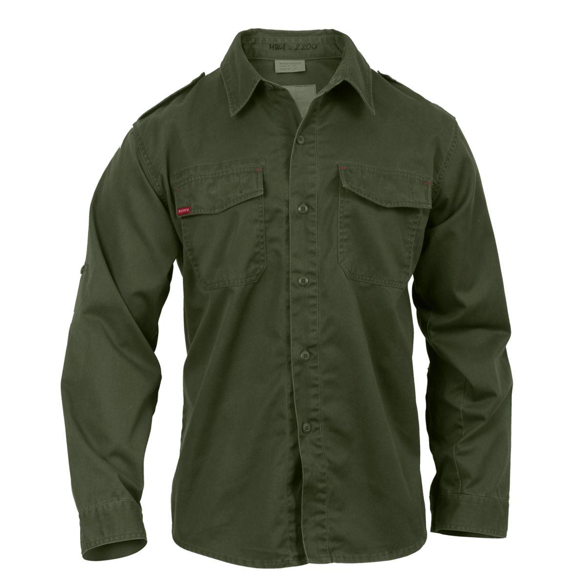 Košile VINTAGE FATIGUE  ZELENÁ ROTHCO 2568 L-11