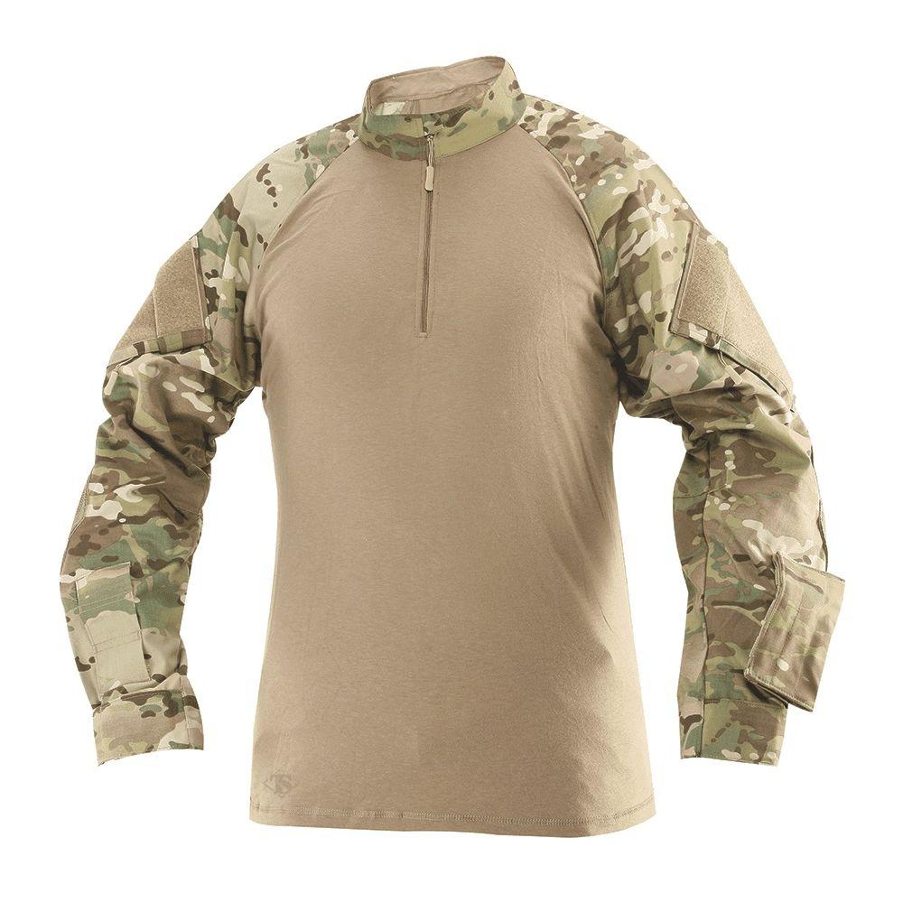 Košile taktická COMBAT TRU 1/4 ZIP MULTICAM®/PÍSKOVÁ TRU-SPEC 25680 L-11