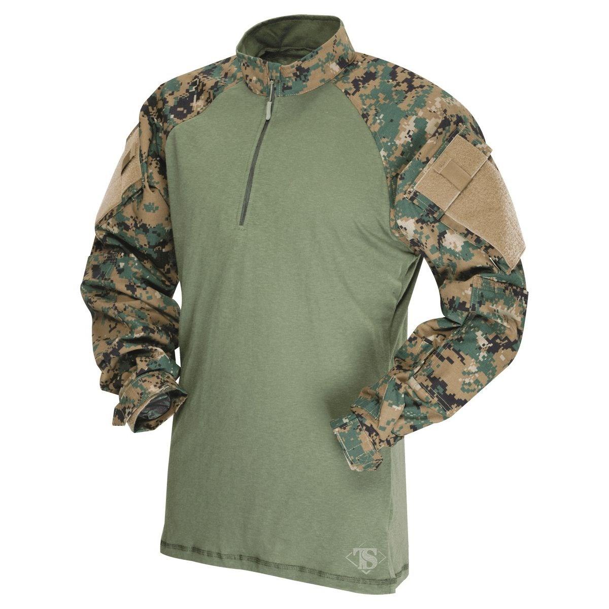 Košile taktická COMBAT TRU 1/4 ZIP DIGITAL WOODLAND - MARPAT TRU-SPEC 25690 L-11