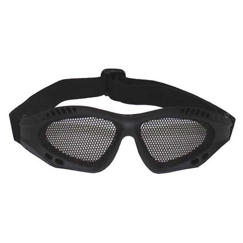 KOMBAT Brýle s kovovou mřížkou ČERNÉ
