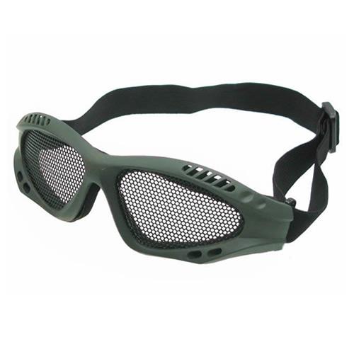 KOMBAT Brýle s kovovou mřížkou ZELENÉ