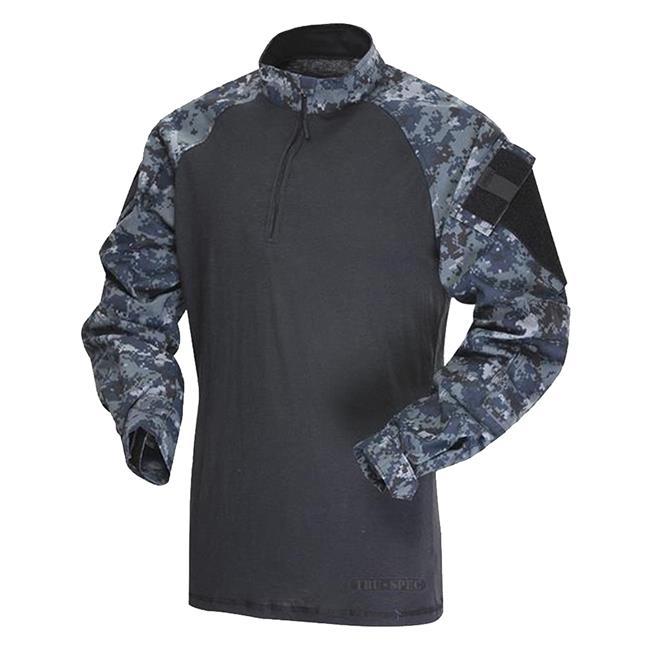 Košile taktická COMBAT TRU 1/4 ZIP MIDNIGHT DIGITAL TRU-SPEC 25710 L-11