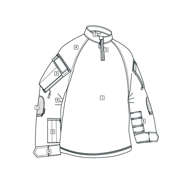 Košile taktická COMBAT TRU XTREME rip-stop MULTICAM BLACK® TRU-SPEC 25780 L-11