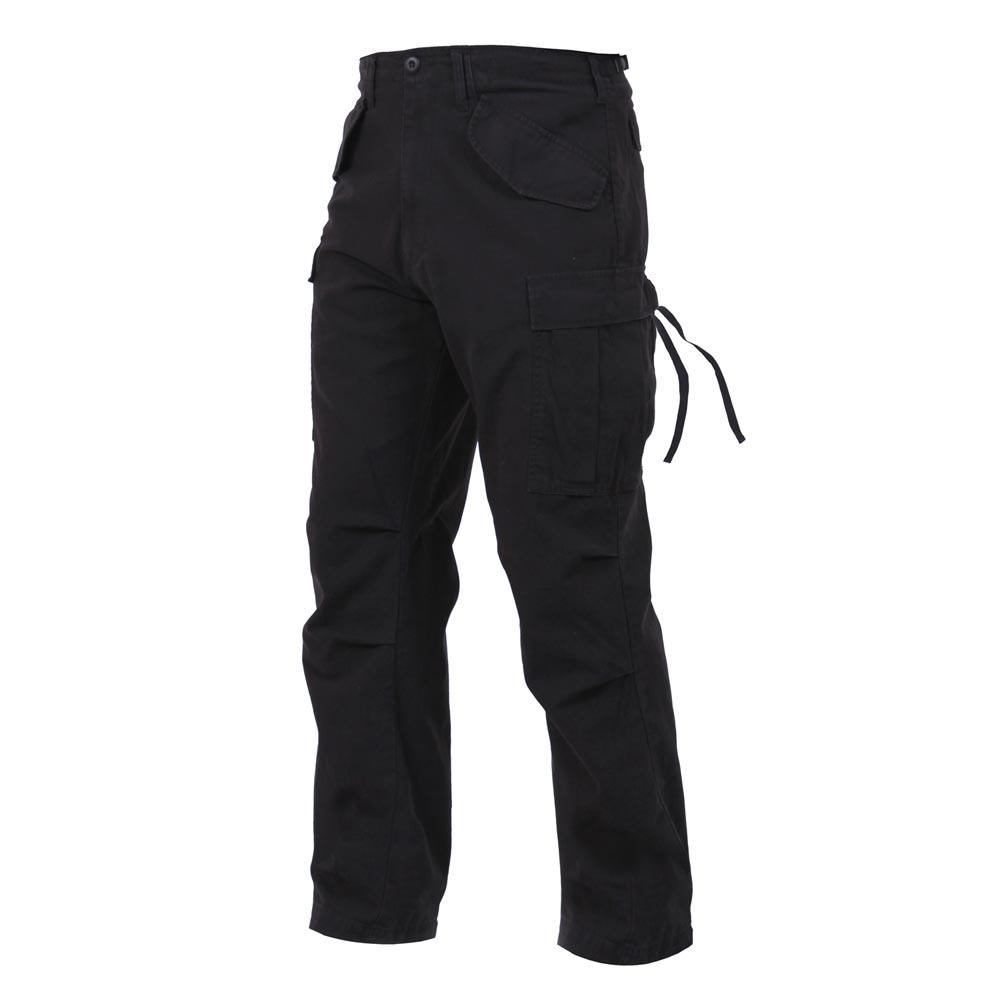 ROTHCO Kalhoty VINTAGE US M65 FIELD ČERNÉ vel.S