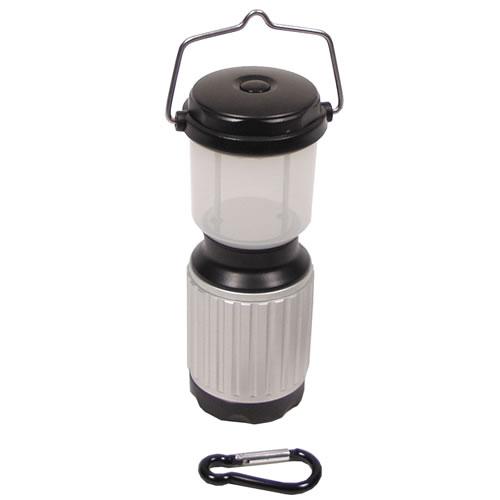 Svítilna CAMPING 17 LED vodotěsná ČERNÁ/STŘÍBRNÁ