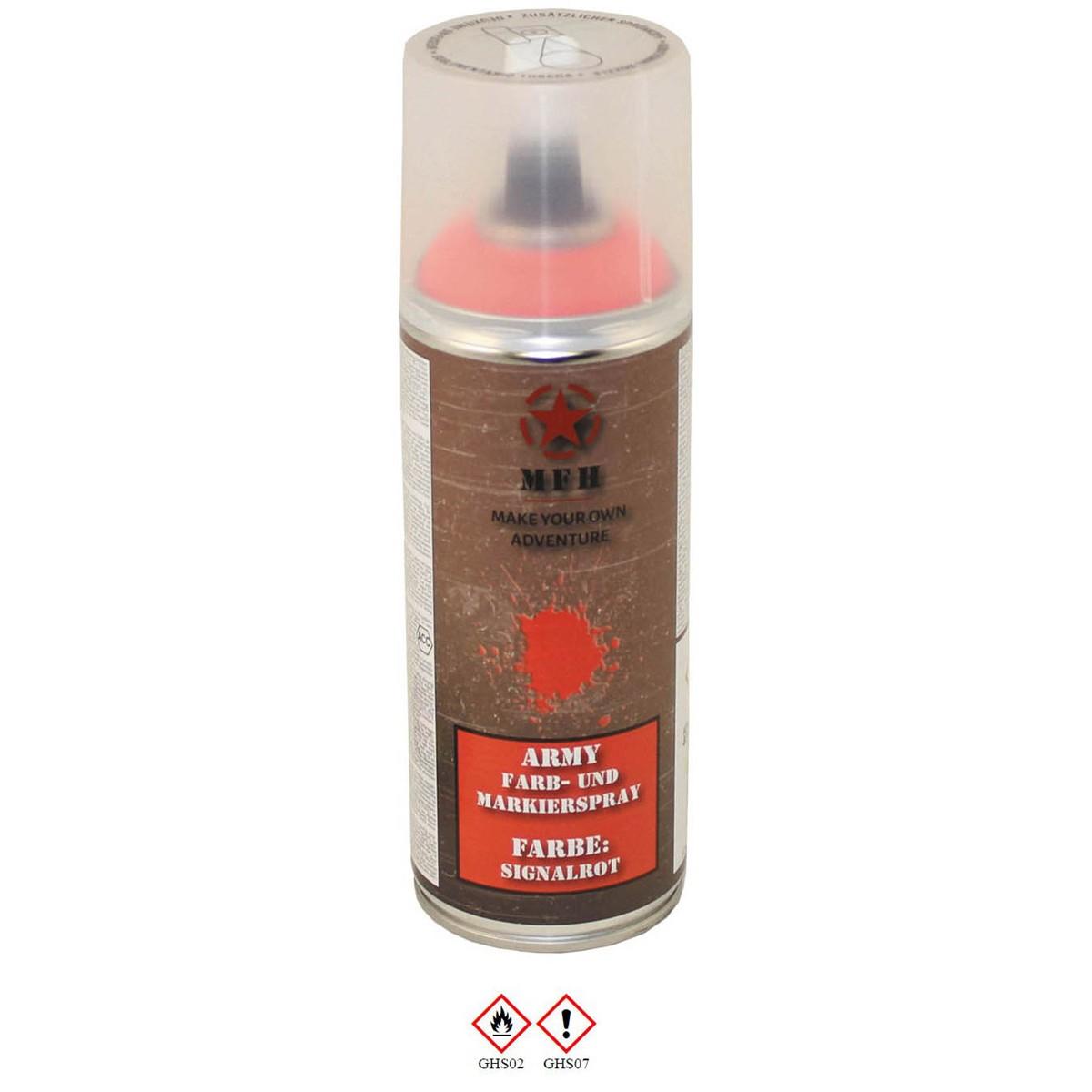 Barva ARMY ve spreji 400ml RAL 1026 signální červená